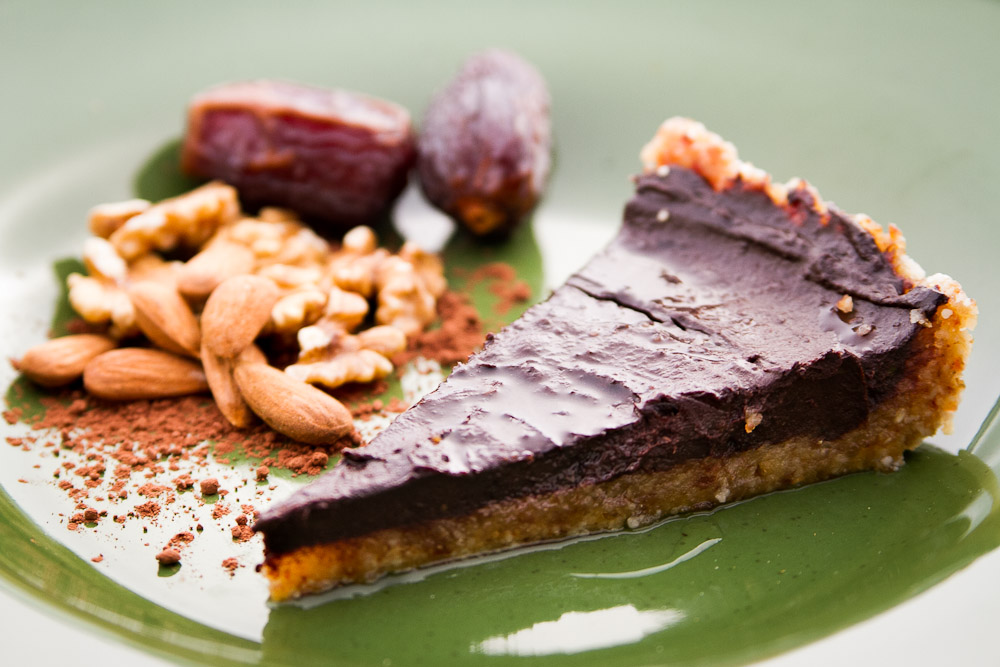 Dieta Crudivegana: tarta de cacao